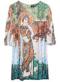 ROMWE  Windstorm Art Digital Print Dress