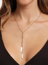Leaf Pendant Link Necklace