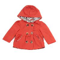 Baby Girl(18-24M) Pink Platinum Hooded Jacket 12 Months, Red