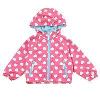 Baby Girl (3-9M) Pink Platinum Hearts Jacket 3-6 Months, Pink Glow