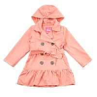 Toddler Girl Pink Platinum Trench Coat 4T, Coral