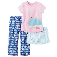 Toddler Girl Carter's(R) Whale 3pc. Pajama Set 2T, Pink Multi