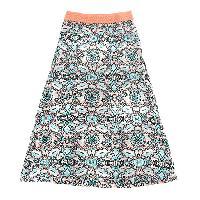 P&H12/1Girls (7-16) XOXO Paisley Print Maxi Skirt L, Peach/Multi
