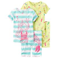 Toddler Girl Carter's(R) Mermaid Pajama Set 2T, Yellow