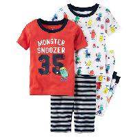 Toddler Boy Carter's(R) Monster 4pc. Sleep Set 2T, Red Multi