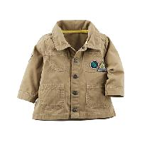Baby Boy (3-24M) Carter's Canvas(R) Jacket 12 Months, Khaki
