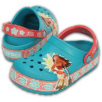 Little Girl Crocs(tm) Disney Moana(tm) Clogs Teal/Multi 13 M, Teal/Multi