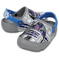 LittlBig Boy Crocs(tm) R2-D2(tm) Clogs Ocean/Grey 1, Ocean/Grey