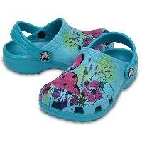Big Kid Crocs(tm) Graphic Clogs Teal 1, Turquoise