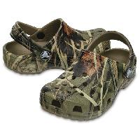 Big Kids Crocs(tm) Classic Realtree(R) Clogs Khaki 1, Green Camo