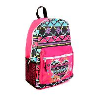 Girls Trailmaker Light Up Heart Print Backpack , Pink