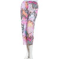 Ellen Tracy Printed Capri Pajama Pants L, Pink