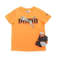Boys (4-7) Puma 2pc. Socks & Tee Set-Fire Orange 4, Fire Orange