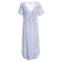 Carole Hochman Lattice Garden Night Gown L, White/Purple