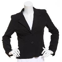 Juniors Joe Benbasset Tropical 2 Button Blazer L, Black