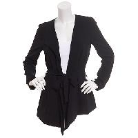 Juniors Joe Benbasset Solid Crepe Jacket L, Black