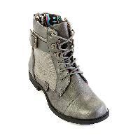 Girls Blowfish Topot Boots 1, Pewter Metallic