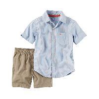 Toddler Boy  Carter's(R) 2pc. Top & Khaki Shorts Set 2T, Blue