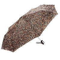 Totes Automatic Compact Umbrella - Neutral Colors , Leopard