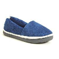 Isotoner Microterry Loafer Slippers 6/7, Union