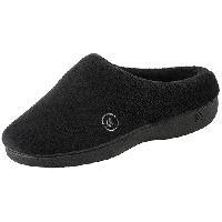 Isotoner Terry Hoodback Slippers 6/7, Black