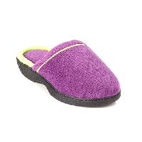 Isotoner Microterry Jilly Clog Slippers 6/7, Concord