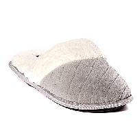 Laura Ashley Quilted Memory Foam Scuff Slippers S, Tan
