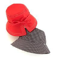 Totes Bucket Tie Big Brim Rain Hat , Black