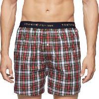 Tommy Hilfiger Woven Holiday Boxer Shorts L, Cardinal