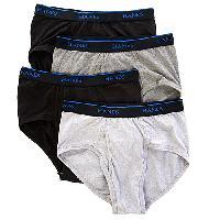Hanes 4pk. Comfort Blend Briefs L, Black/Grey