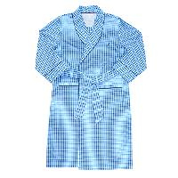 Nautica Woven Plaid Robe L/XL, Light French Blue