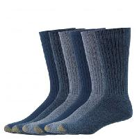 Mens GOLDTOE(R) 6pk. Harrington Crew Socks 10-13, Denim