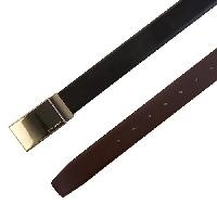 John Henry Frame Buckle Reversible Belt 32, Black/Brown