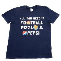 Football/Pepsi Short Sleeve Tee S, Navy