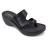 Eastland Laurel Wedge Sandals - Black 6 M, Black