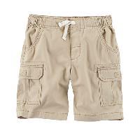 Boys (4-7) Carter's(R) Canvas Cargo Shorts - Khaki 4, Khaki