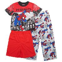 Boys Spider-Man 3pc. PJ Shorts Set 10, Red