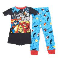 Boys (4-7) Justice League 3pc. Pajama Set 10, Blue