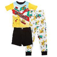 Boys Pokemon(tm) 3pc. Pajama Shorts Set 10, White