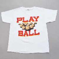 Boys (8-20) Play Ball Short Sleeve Tee L, White