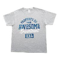 Boys (8-20) Awesome Dept. Short Sleeve Tee L, Dark Ash
