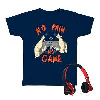 Boys (8-20) Audio Council No Pain No Game T-Shirt L, Navy