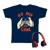 Boys (8-20) Audio Council No Pain No Game T-Shirt L, Navy