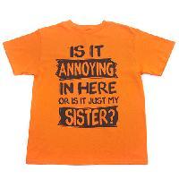 Boys (8-20) Annoying Sister Short Sleeve Tee L, Orange