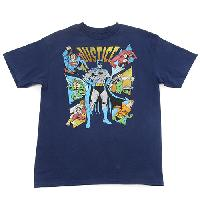 Boys (8-20) Justice League Team Up T-Shirt L, Navy