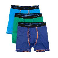 Boys (8-20) Hanes(R) 3pc. X-Temp(tm) Boxer Briefs S, Navy/Green/Blue