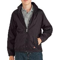 Dickies(R) Nylon Jacket With Packable Hood - Black S, Black