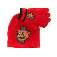 Boys (4-7) Five Nights at Freddy's  Beanie Set One Size Fits Most, Red