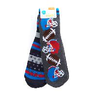 Boys Capelli Sports Fan Slipper Socks M/L, Grey Combo