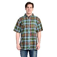 Stanley Regular Fit Over-Dyed Plaid Shirt XL, Indigo